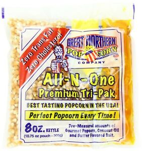 Great Northern Movie Theatre Theater Butter Popcorn Tri pak 24 Pk 8 Oz Ounce