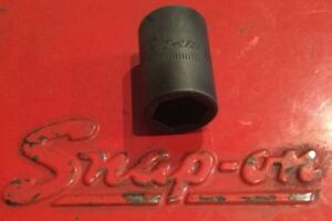 Snap On Tools 3 8 Drive 12mm Metric 6 Point Shallow Impact Socket Imfm12