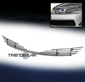 For 2012 2014 Toyota Camry Front Upper Hood Billet Grille Grill Insert Bolt over