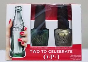 OPI Coca Cola 100th Anniversary Two to Celebrate Nail Lacquer 0.5 oz Each