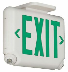 Hubbell Lighting Dual lite Exit Sign With Emergency Lights Evcugwd4