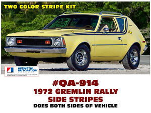 Qa 914 1972 Amc American Motors Gremlin Rally Side Stripe Decal Non x
