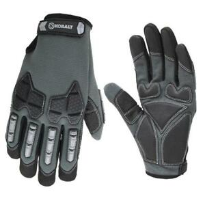 New Large Men s Black Synthetic Leather High Performance Work Gloves Washable