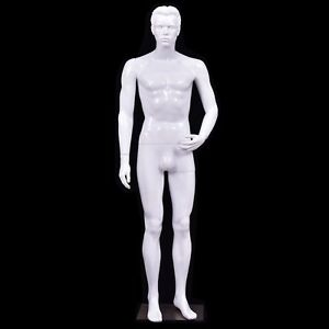 Black White Plastic Male Display Mannequin White