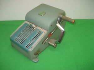 Vintage Green Chek Gard Check Writer Security Protection Cheque Printer