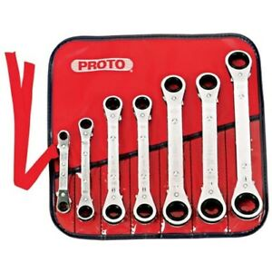 Proto J1180ma 7 Piece Metric Offset Ratcheting Wrench Set