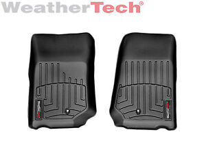 Weathertech Floorliner Mats For Jeep Wrangler Unlimited 07 13 1st Row Black