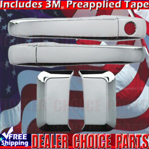 For 2007 08 09 10 11 12 13 14 15 2016 Jeep Compass 4dr Chrome Door Handle Covers
