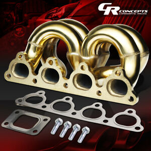 Gold Ram Horn T3 Flange Turbo Manifold For 90 01 Acura Integra B Series Engine