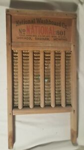 Vintage Washboard National Washboard Co No 801 The Brass King Top Notch