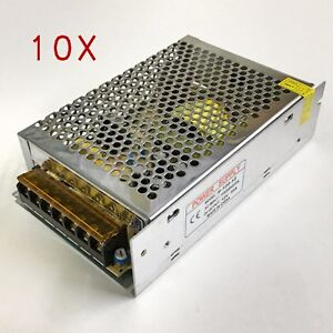 10 X Universal Dc 12v 10a 120w Regulated Switching Power Supply