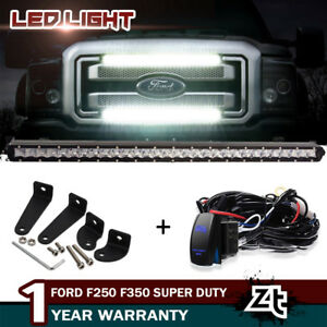 30 31inch 150w Front Grille Led Light Bar Wiring Fit For 2011 2016 F250 F350