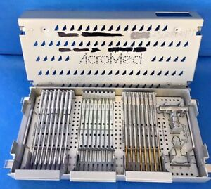 Acromed Medtronic Plig Instrument Case Shavers sizers Spine Neuro Surgical