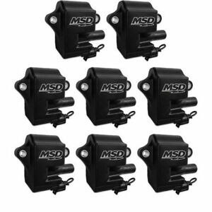 Ls1 ls6 Msd Black Pro Power Coils For Gm Pack Of 8 828583