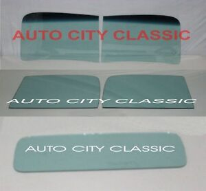 1941 Chevrolet Pickup Truck Glass 2 Pc Windshield Doors Back Tint Shade 41 Chevy