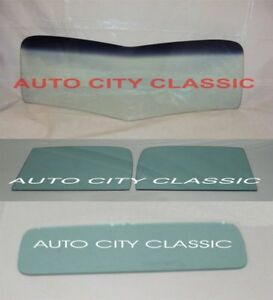 1939 1940 Chevy Pickup Truck Vbend Windshield Doors Rear Back Glass Green Tint