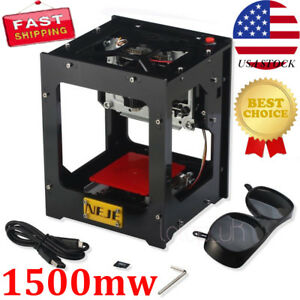 Neje Dk bl 1500mw Mini Automatic Laser Engraving Machine Engraver Carver Diy Usa