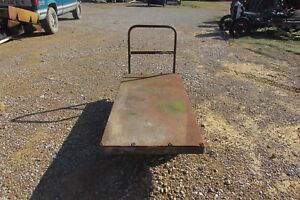 Vintage Rustic Industrial Factory Metal Cart S107