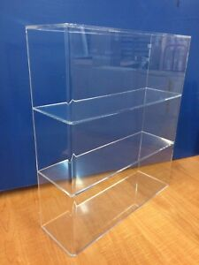 Ds acrylic Lucite Countertop Display Case Showcase Cabinet 14 w X 4 1 4 X 16 h