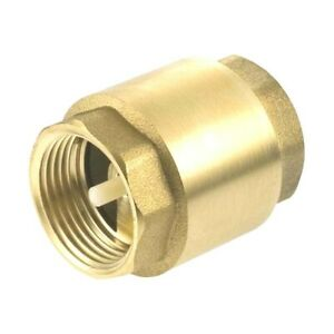 1 Inch Npt Pipe Female Thread Brass Spring Check Valve In line Fpt One Way