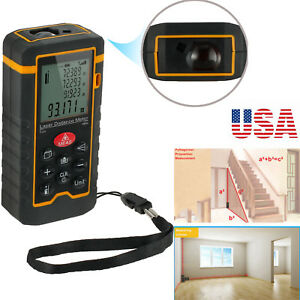 100m Range Digital Lcd Laser Distance Tester Meter 328ft Handheld Finder Measure