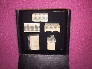 5 Piece Lot 223650 2 Tyco Conn Backplane Rcp 48 Pos 2mm Press Fit St Thru hole