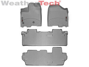 Weathertech Floor Mats Floorliner For Toyota Sienna 2013 2019 8 Pass Grey