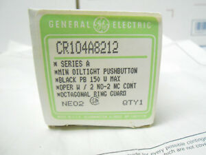 Cr104 A8212 Ge Push Switch 125 Ac dc New Old Stock