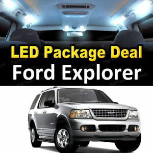 For 2006 2009 2010 Ford Explorer Led Lights Interior Package Kit White 11pcs