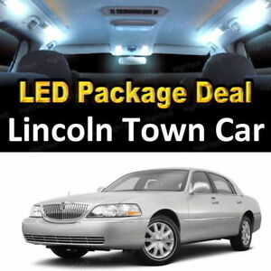 For 2004 2007 Lincoln Town Car Led Lights Interior Package Kit White 14pcs