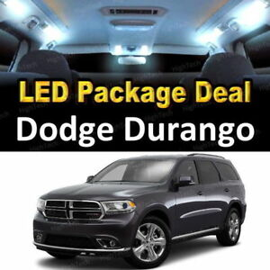 For 2014 2015 2016 Dodge Durango Led Lights Interior Package Kit White 3pcs