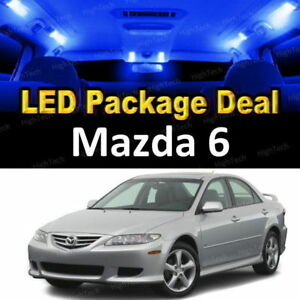 For 2003 2004 Mazda 6 Led Lights Interior Package Kit Blue 9pcs