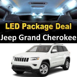 For 2011 2013 Jeep Grand Cherokee Led Lights Interior Package Kit White 9pcs