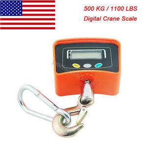 Us Ship 500kg 1100lbs Digital Crane Scale Heavy Duty Hanging Scale Industrial