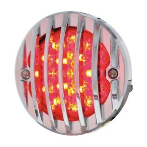 1933 36 Ford 21 Led Tail Light Assembly With Chrome Grille Bezel L h Hot Rod