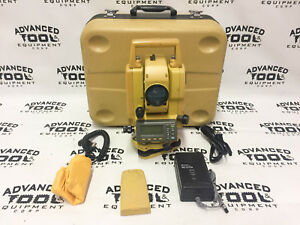 Topcon Gpt 3003w Total Station Transit With 2x Battery Charger Case Cable