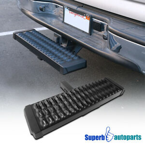 For 2 Receiver Aluminum Rear Hitch Step Bar Bumper Guard Truck Suv Pickup 1pc