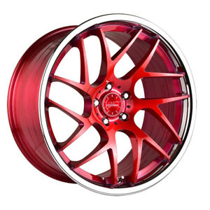 20 Vertini Rf1 4 Forged Red Concave Wheels Rims Fits Jaguar Xkr