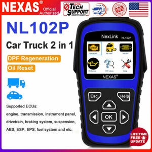 Nexas Nl102p Diesel Heavy Duty Truck Diagnostic Abs Dpf Oil Reset Scanner Tool