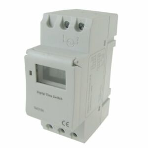Uxcell Din Rail Mounting Weekly Programmable Electronic Timer Thc15a Ac 110v