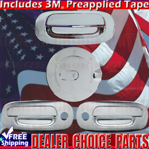 For 1997 2004 Dodge Dakota Chrome Door Handle Covers Wpskeyhole Gas Cap Tailgate