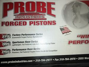 Probe Pistons Forged Dish 4 030 Bore Ford Set Of 8 P2305f 030 New In Box 302
