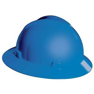 Blue Hard Hat Construction Job Site Head Protection Work Safety Protective Gear