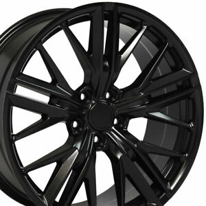 20x8 5 20x9 5 Satin Black 5th Gen Camaro Zl1 Wheels Set Rims Fit Chevrolet Oew
