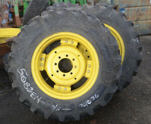 John Deere Set Of 2 Wheels Tires 12 4x24 Titan