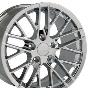 17x9 5 Chrome C6 Corvette Zr1 Style Wheels Set Of 4 Rims Fit Camaro Firebird Oew