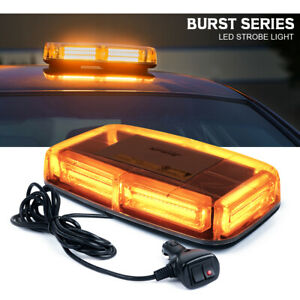 Xprite Cob Led Strobe Light Bar Amber Yellow Rooftop Flash Warning Beacon 12v
