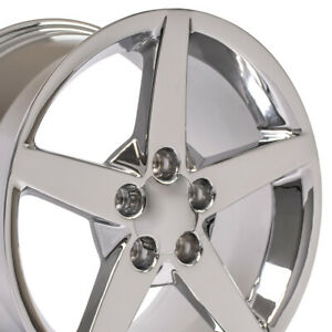 18x9 5 19x10 Chrome Corvette C6 Style Staggered Wheels Set Of Rims Fit Chevy Oew