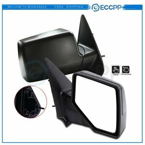 Lh rh Side View Manual Textured Mirrors Pairs For 06 11 Ford Ranger Pickup Truck