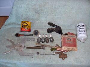 Junk Drawer Vintage Pipe Car Auto Truck Tractor Parts 15 Pieces Model A Fishing